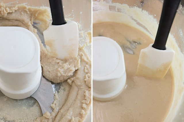 Making tahini in a food processor