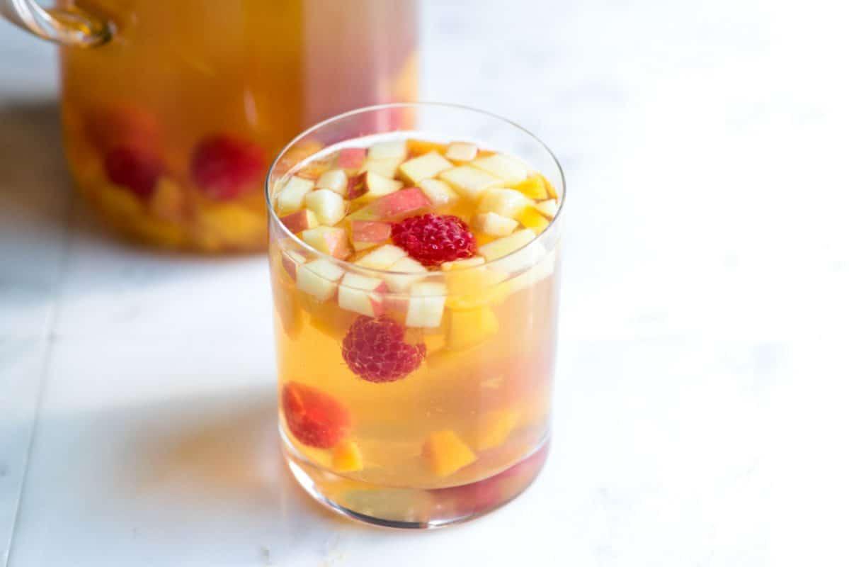 Raspberry Peach White Sangria