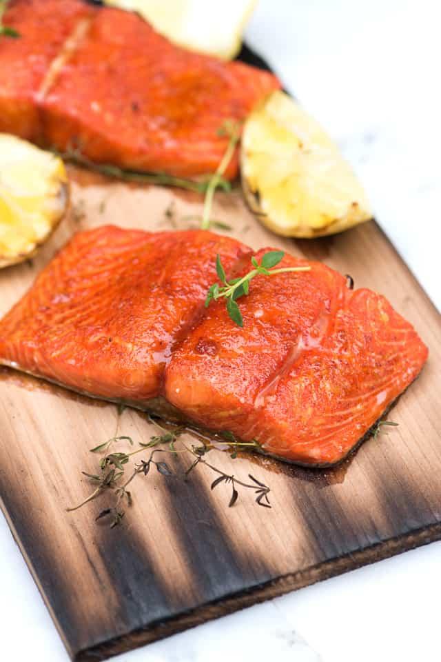 planked salmon yogurt sauce cedar planked cedar planked salmon on the ...