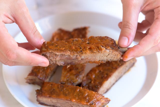 Easy Oven Baked Ribs with a Bacon Bourbon Barbecue Sauce