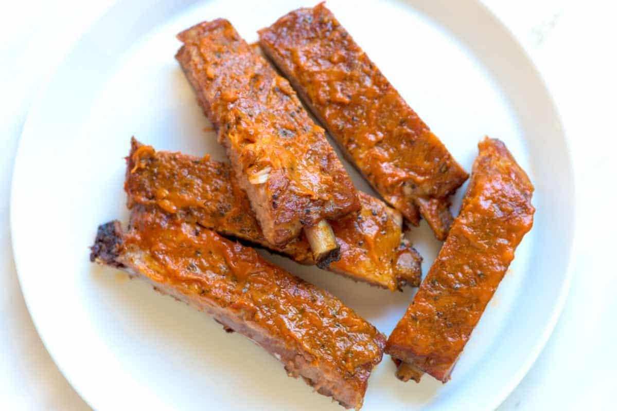Bacon Bourbon Oven Baked Ribs Recipe