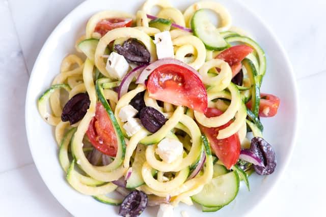 Mediterranean Zucchini Noodles
