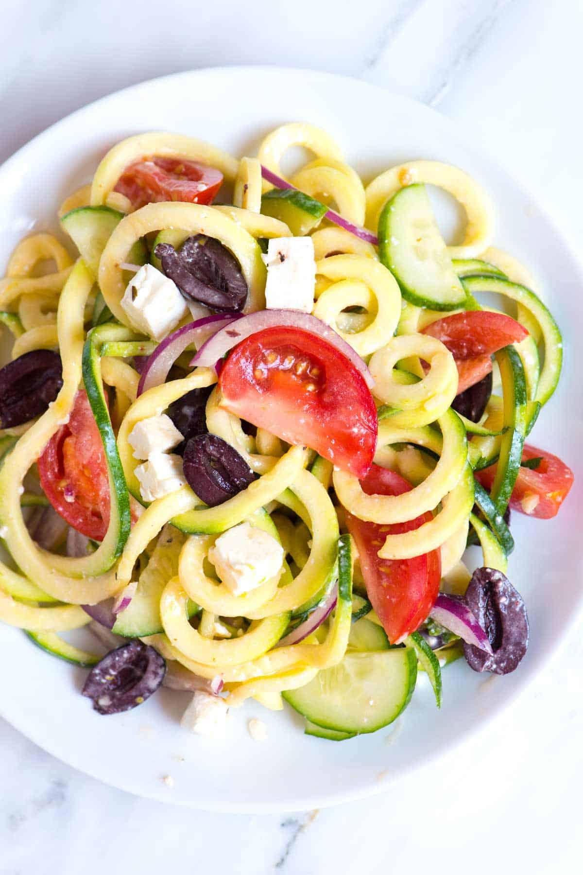 Mediterranean Zucchini Pasta Salad Recipe