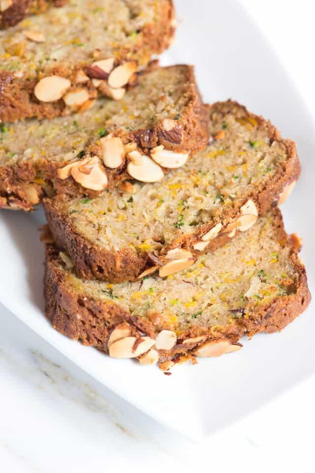 Easy Zucchini Bread with Almonds