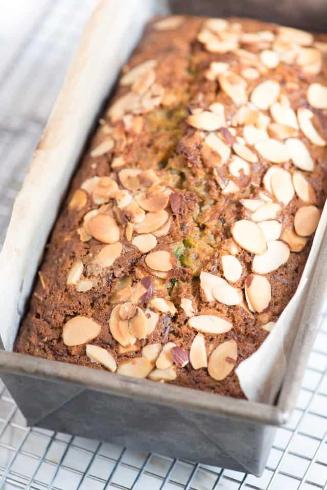 Easy Zucchini Bread Recipe with Almonds