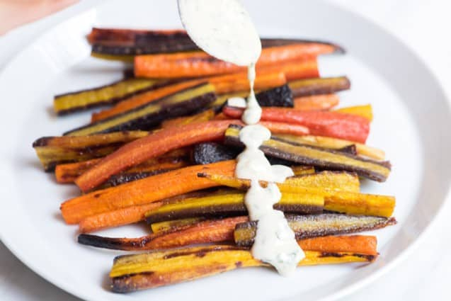 20-Minute Honey Roasted Carrots with Tahini Sauce