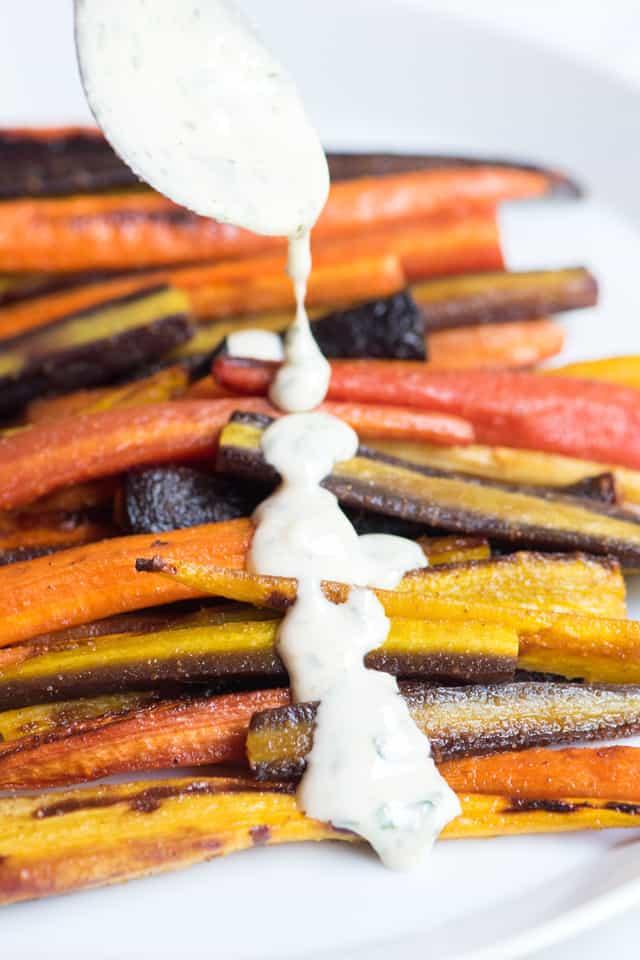 Roasted Carrots with Tahini Sauce Recipe