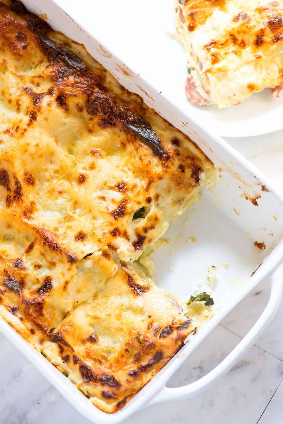 Cheesy Chicken Lasagna with Spinach