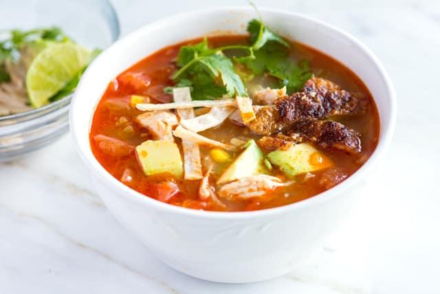 Easy Chicken Tortilla Soup Recipe from Scratch