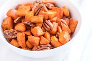 Roasted Sweet Potatoes Recipe with Pecans
