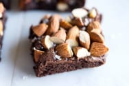 Salted Almond Brownies Recipe from Scratch