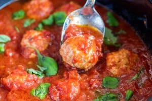 Slow Cooker Chicken Meatballs Recipe