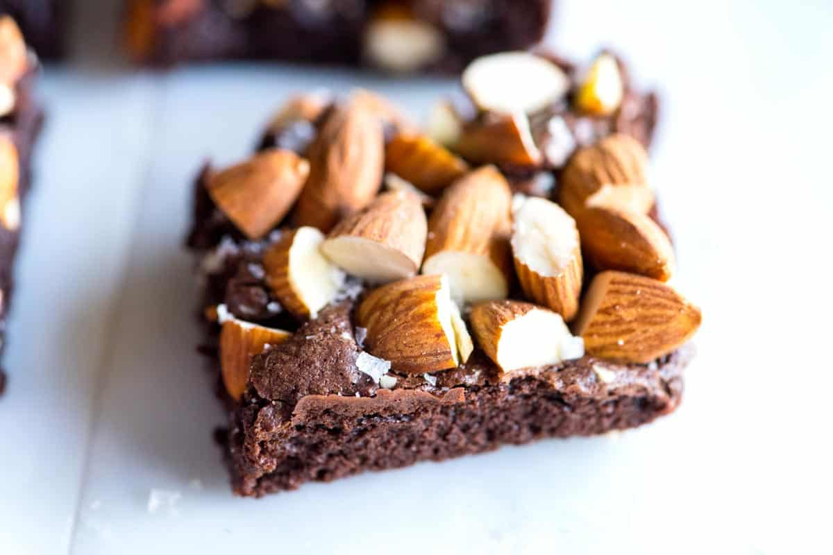 Salted Almond Brownies from Scratch