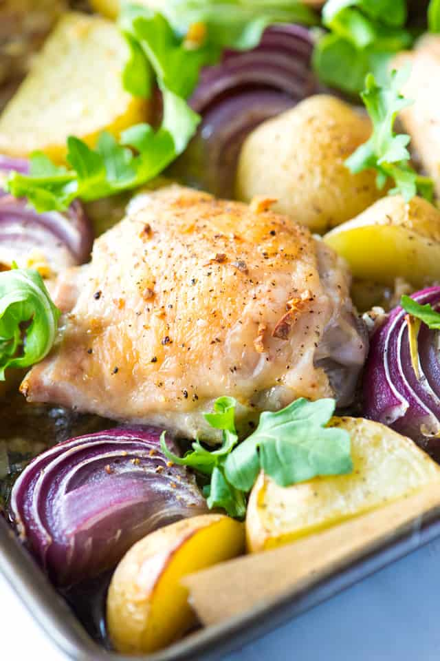 Sheet Pan Baked Chicken with Potatoes