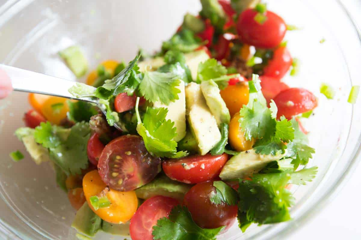 Roasted Garlic, Tomato and Avocado Salsa