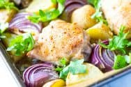 Easy, Sheet-Pan Baked Chicken Thighs