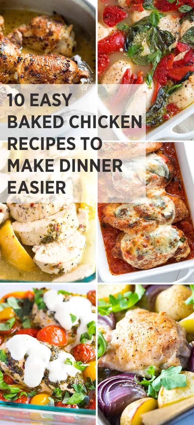 10 Easy Baked Chicken Recipes