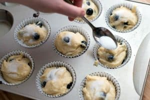 Step - Blueberry Muffins