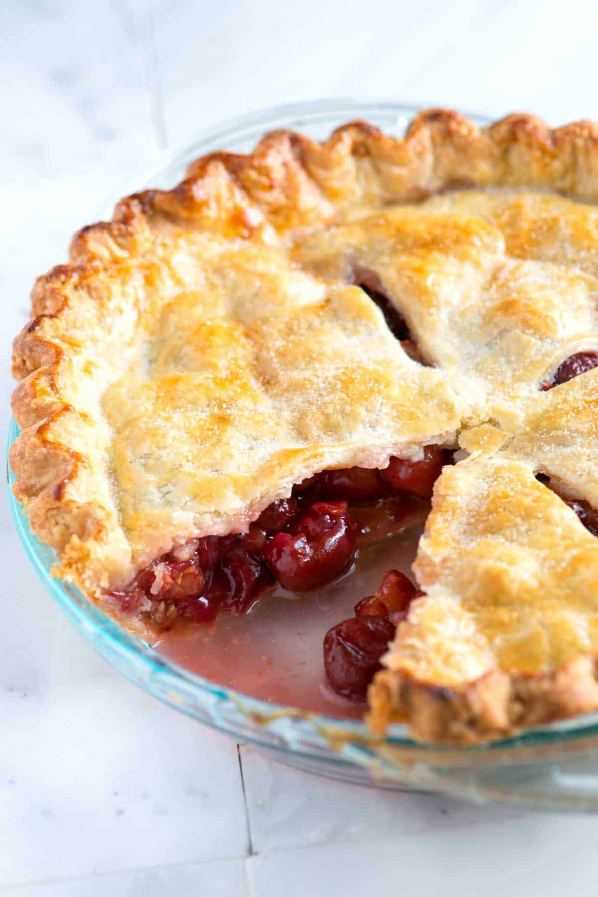 Easy fresh sour cherry pie recipe