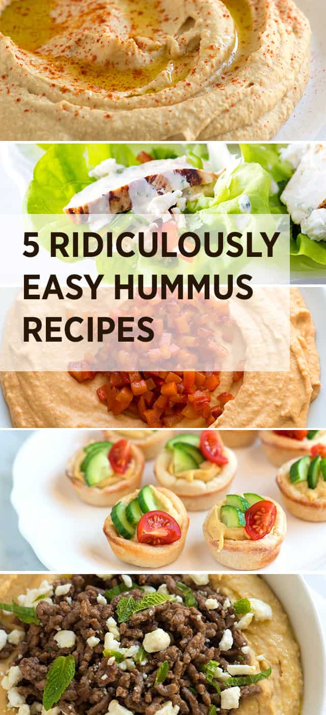 5 Ridiculously Easy Hummus Recipes
