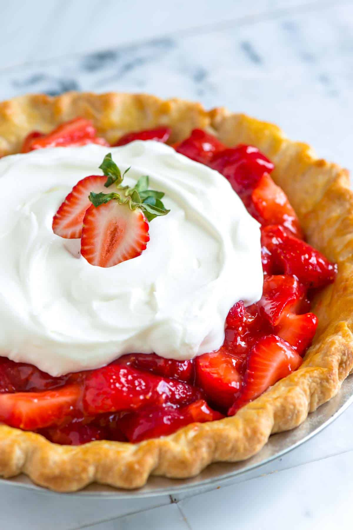 Simple Fresh Strawberry Pie