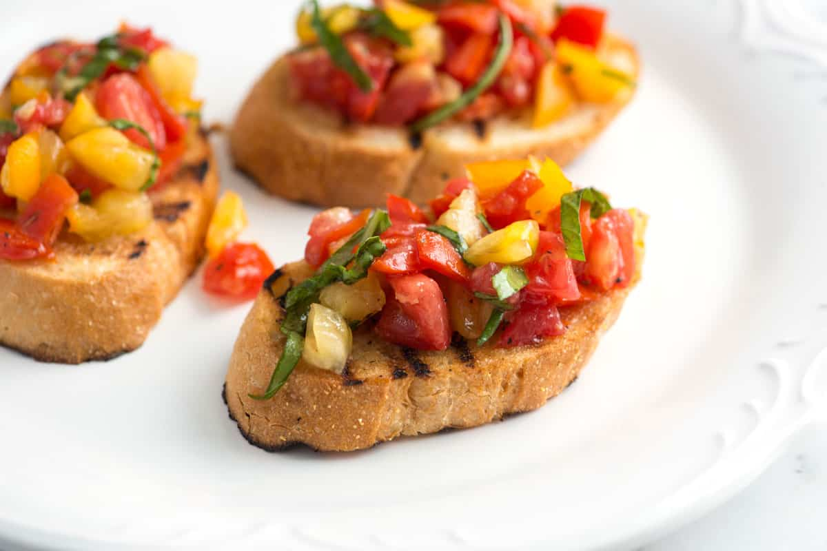 Fresh Homemade Tomato Bruschetta Recipe