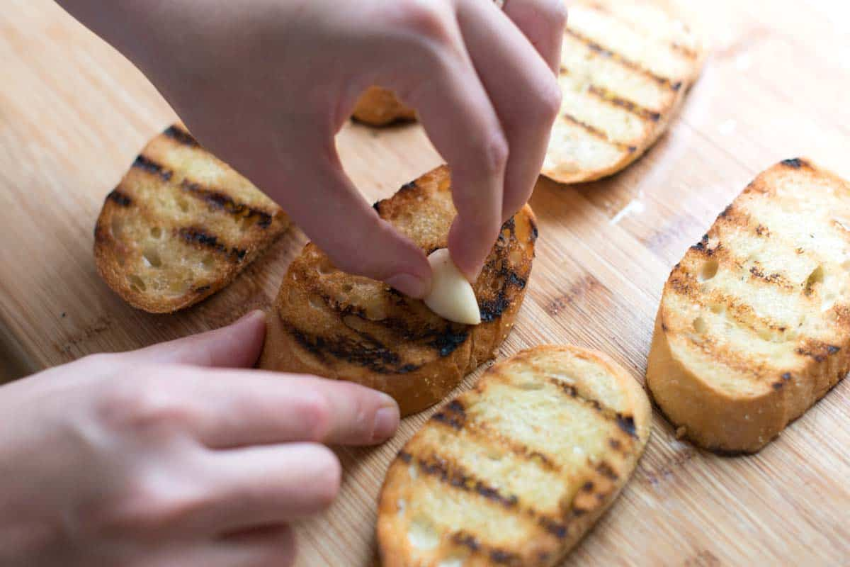 How to Make the Best Bruschetta -- Grill the bread