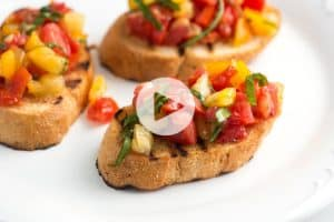 Homemade Fresh Tomato Bruschetta Recipe
