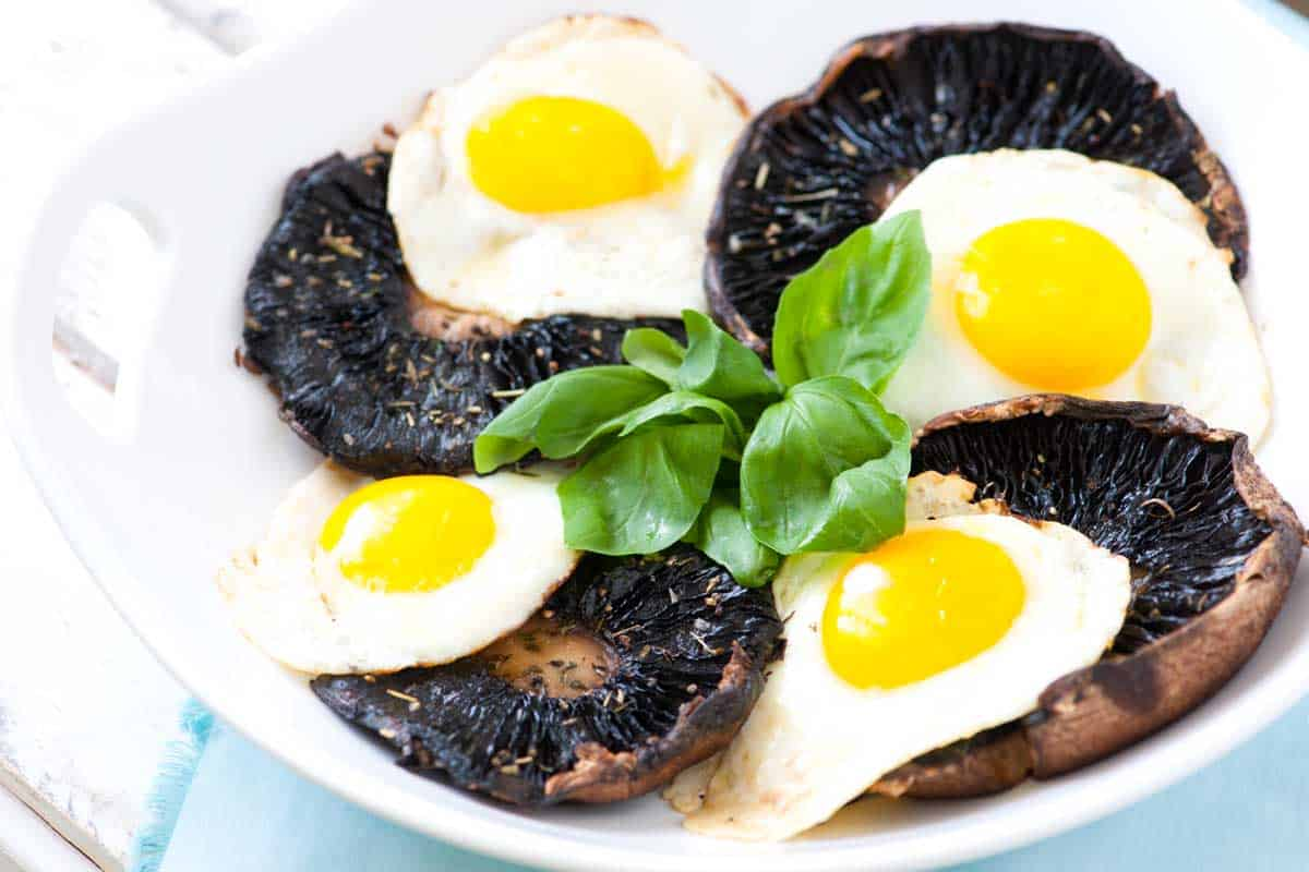 Easy Roasted Portobello Mushrooms with Eggs