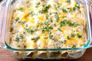 Salsa Verde Chicken Enchiladas Recipe