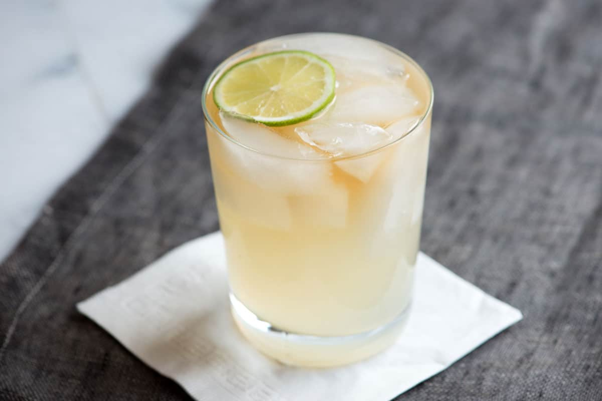 A dark and stormy cocktail requires only three ingredients.