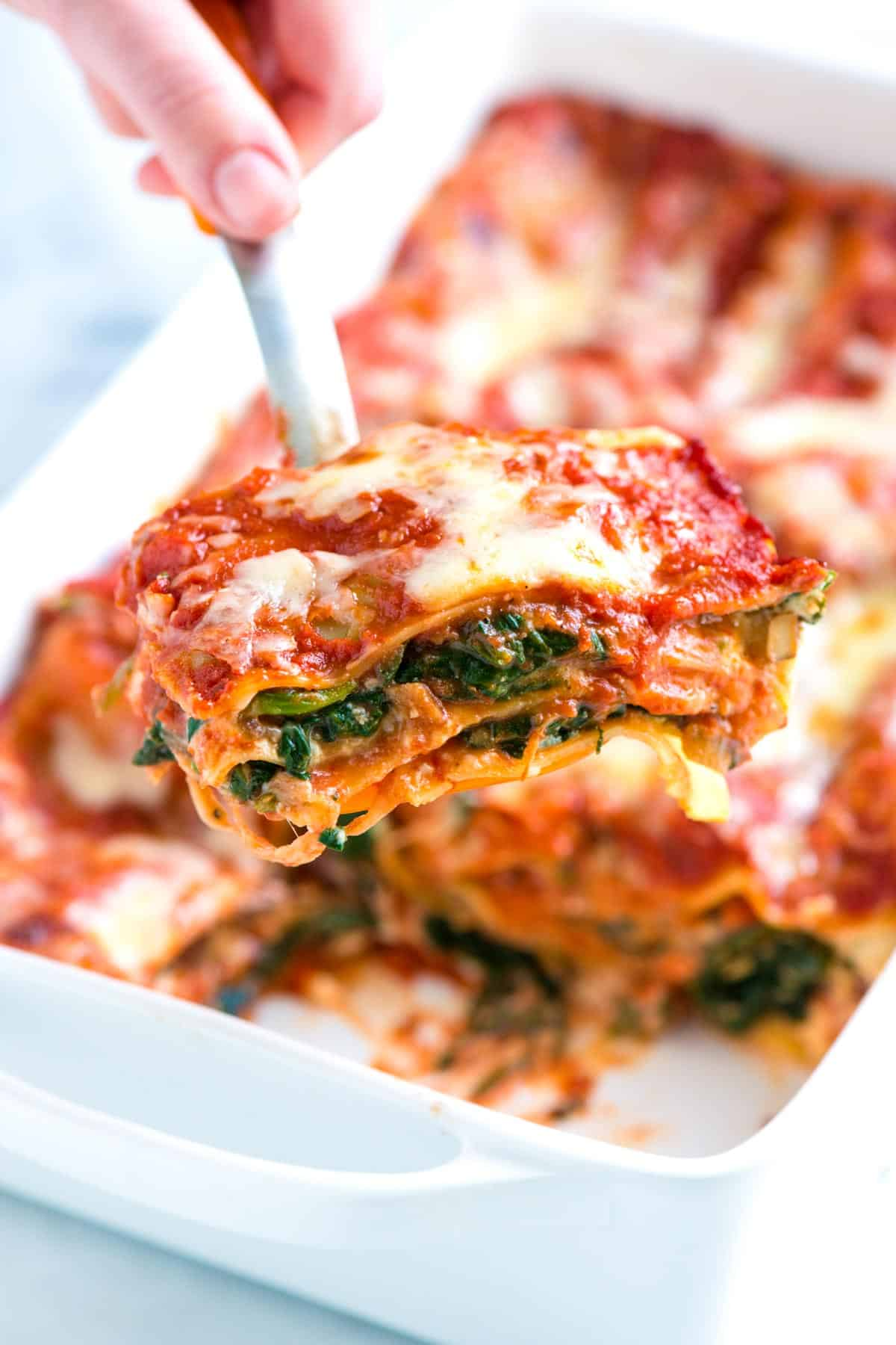 Exceptional Easy Spinach Lasagna Recipe With Fresh Spinach, Flavorful Mushrooms, Light  Tomato Sauce, And