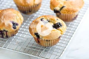 Quick and Easy Blueberry Muffins Recipe and Video