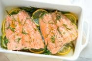 Perfectly Baked Salmon with Lemon and Dill