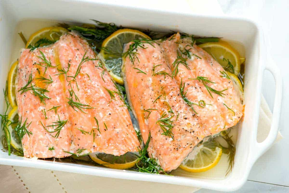 Easy 20 minute oven baked trout recipe perfectly baked salmon with lemon and dill ccuart Gallery
