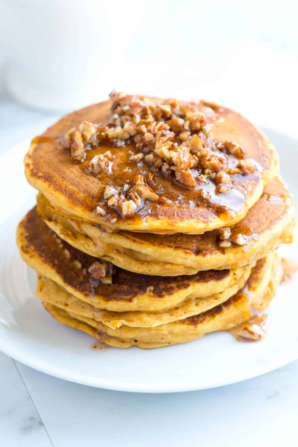 How to Make Pumpkin Pancakes with Butter Pecan Syrup