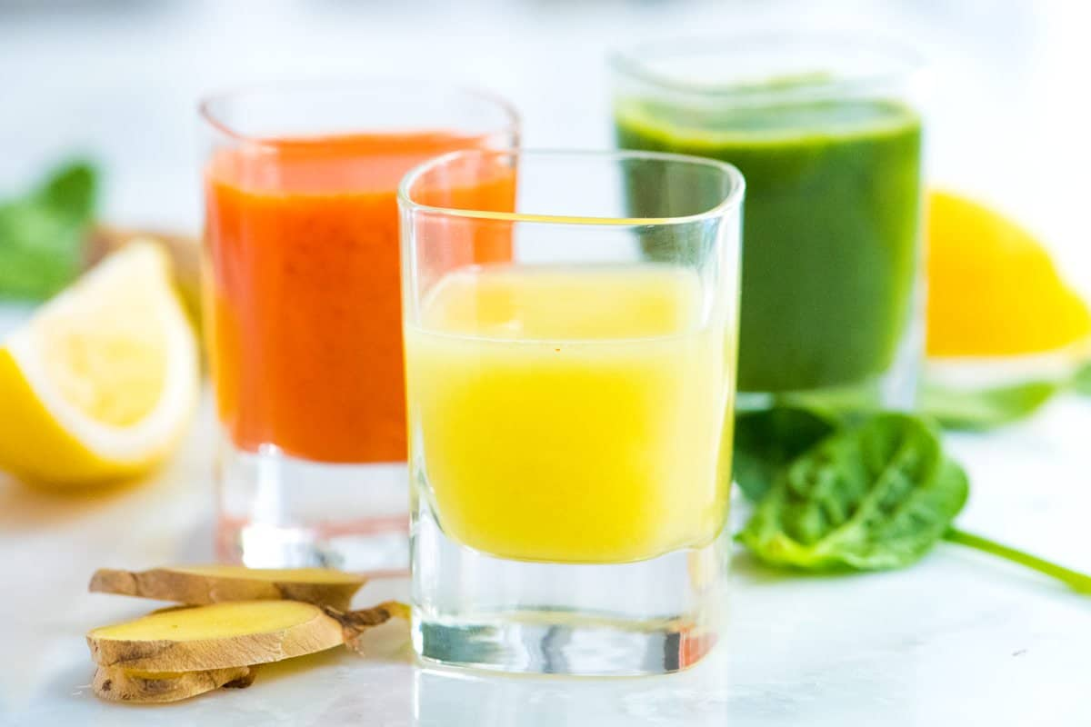 three ginger power shot recipes