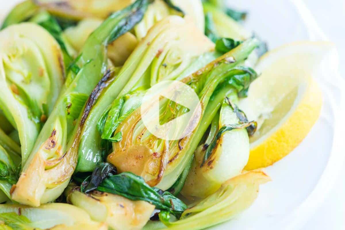 10 Minute Lemon Garlic Sauteed Bok Choy Recipe