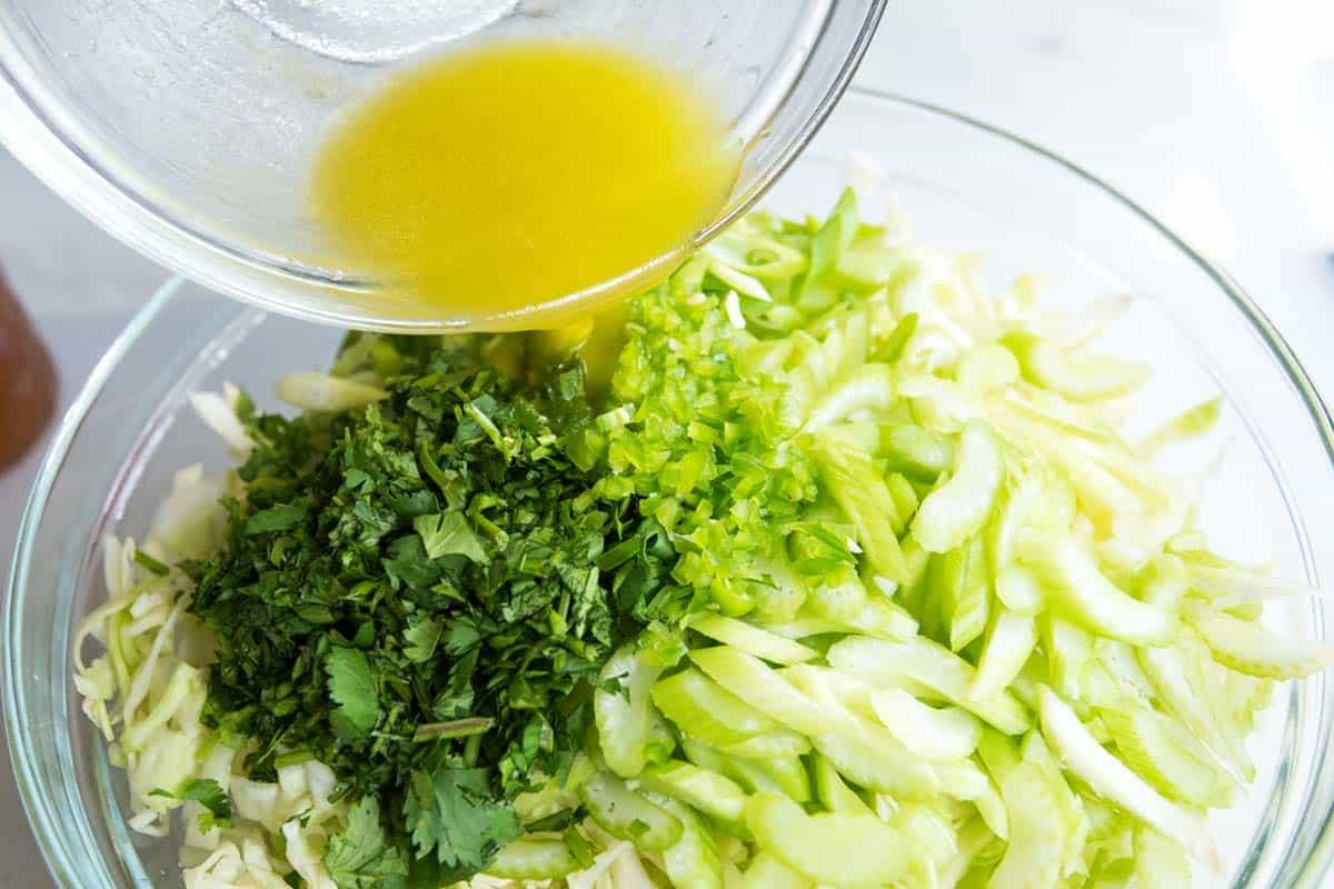 Mayo-Free Cilantro Lime Coleslaw Salad Recipe