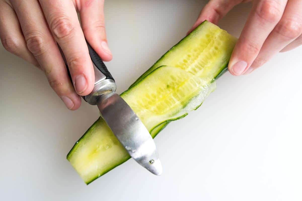 How to make cucumber ribbons.