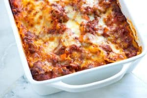 Cheesy Sausage and Beef Lasagna Recipe