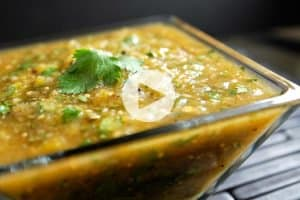 Roasted Tomatillo Salsa Verde Recipe Video