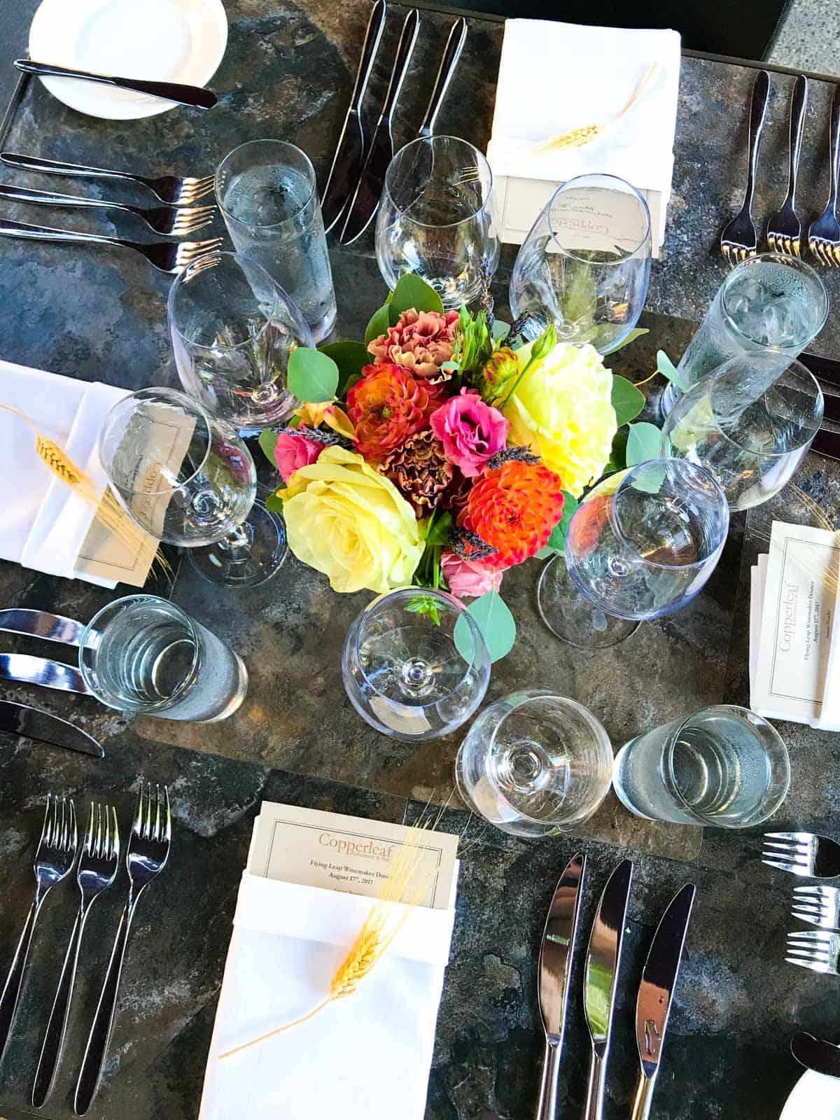 Copperleaf restaurant summertime dining series