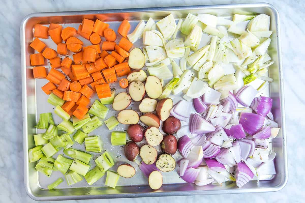 How to easily roast root vegetables in the oven.