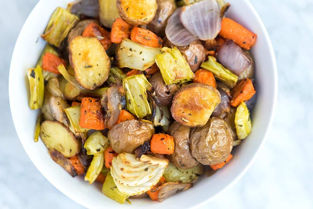 Tender inside and caramelized outside. See our straight-forward and easy roasted vegetables recipe now.