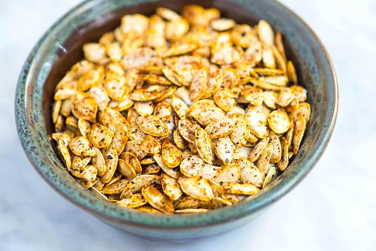 How to make the best roasted pumpkin seeds at home. You can even use this method for other winter squashes like butternut squash.