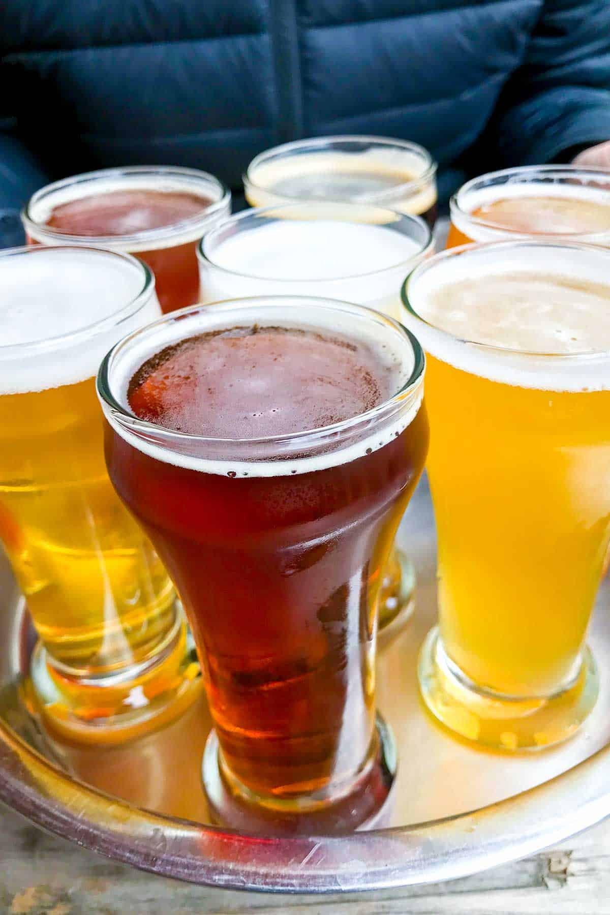 Beer Sampler from Island Hoppin Brewery on Orcas Island