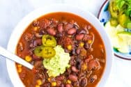Utterly Delicious Chipotle Bean Chili Recipe