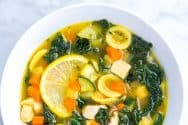Easy, Lemony Chicken Vegetable Soup Recipe