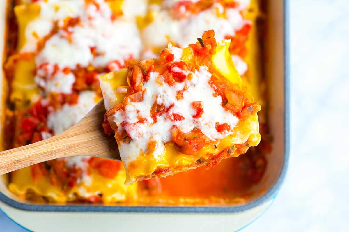 Fresh Vegetable Lasagna Roll Ups Recipe